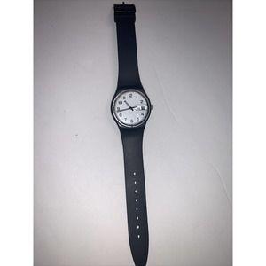 black vtg Women's swatch watch white w calender